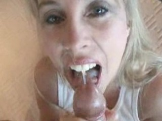 MILF Gets Facial And Swallows All The Load