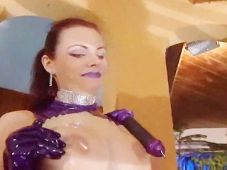 Latex Whores Gets Sticky Facial