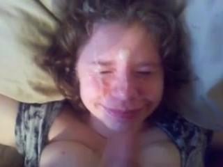 Blow-Job Girlfriend Cum Shot Facial Love Homemade