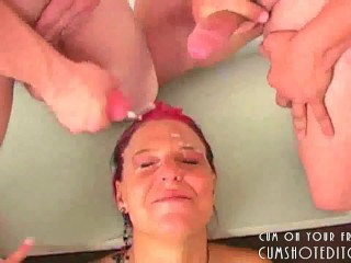 Ginger Bitch Covered In Jizz