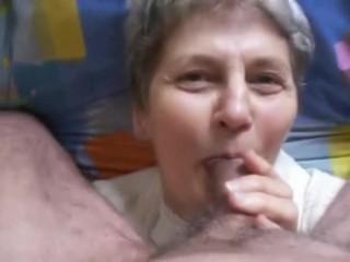 Granny 76yo Gets A Facial