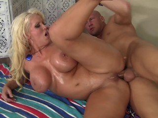 Massive Breasts MILF Gets Anal Fuck And Facial