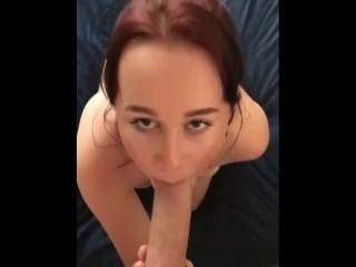 Blow-Job And Facial For Nice Teen Girlfriend