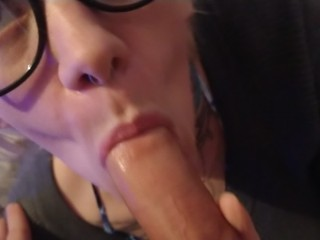 POV Blow Job With Stepsister Getting Facial