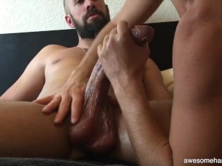 A Nice Woman Worshipping A Massive Curved Penis And Gets A Enormous Facial