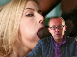 Blond Teen Cutey Gets A Facial And Cream Pie From Enormous Black Dick Gangbang