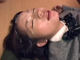 Hirota Mariko Gets Bukkake 1