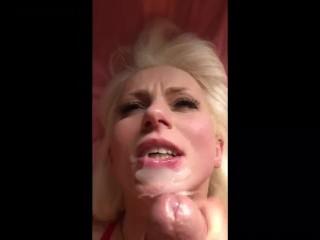 Polish Whore Gets Unwanted Facial