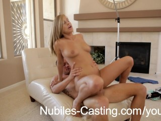 Nubiles Casting – She Thinks A Sticky Facial Will Help Her Get The Job!