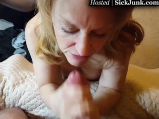 Dirty As Fuck Granny Takes A Facial Www.SickJunk.com