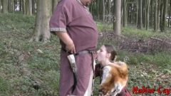 Kinky Viking Bitch Nadine Cays Sucks Old Dude With Facial Insemination