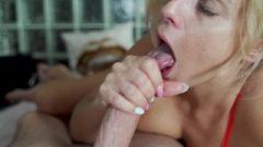 Sloppy Blow-Job With Facial And Handjob – Perfect Huge Boobs MILF – Huge Penis