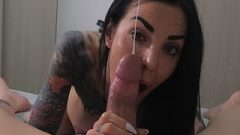 Best Blow Job You've Ever Seen. Gorgeous Gf's Sticky, Deep & Jizz On Face !