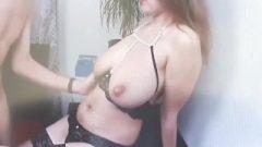 Busty Cute Vixen In Lingerie Receives Sperm On Asshole