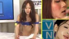 Facial Spunk Newsreader 2 Presentadoras De La Tele Comiendo Pollas Y Tragando