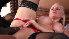 Lingerie Clad Succubi Alena Croft Roughly Butt Destroyed By Big Black Cock