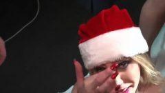 Voluptuous British Whores Christmas Bukkake Party