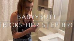 Babyybutt Tricks Step Bro Into Cum On Face